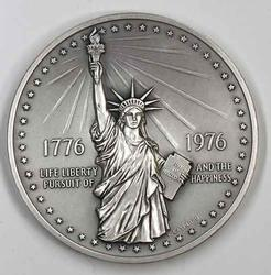 Large Sterling 1976 Bicentennial US Mint Medal