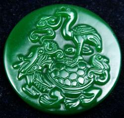 Jade Stone Old Nephrite Figurine and Dragon