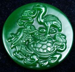 Jade Stone Old Nephrite Figurine and Dragon
