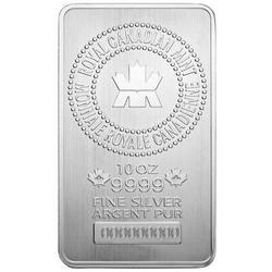 Royal Canadian Mint 10oz Silver Bar