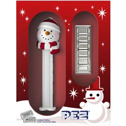 Holiday Snowman Pez Gift Set 6-5g Silver Bars