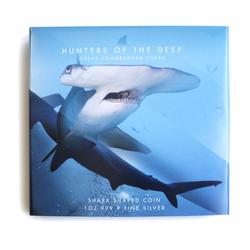 2020 1oz Silver Hunters of the Deep Hammerhead Shark