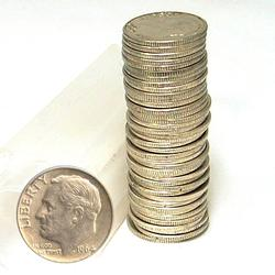 90% Silver Roosevelt Dime Roll