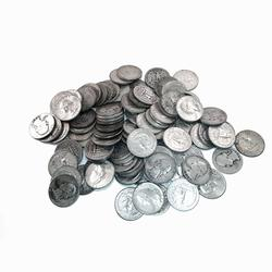 90% Silver Washington Quarters 100pc