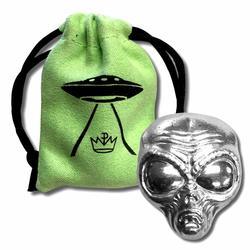 2oz Fine Silver Alien Head Poured Bar