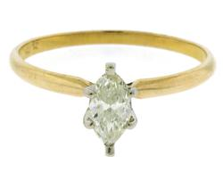Nice Marquise Diamond 14kt Ring