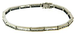 Stunning Diamond & Baguette Tennis Bar Bracelet
