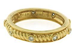Beautiful Bezel Set Diamond Spaced Ring