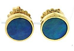 Amazing Bezel Set Opal Earrings