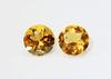 Shiny Natural Citrine Pair - 3.52 cts.