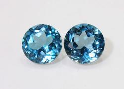 Sparkling Blue Topaz Pair - 5.23 cts.