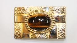 Belt Buckle with Natural Tigereye