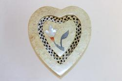 Heart-shaped Box wth Mother of Pearl