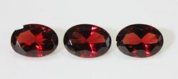 Sparkling Natural Garnet - Set of 3