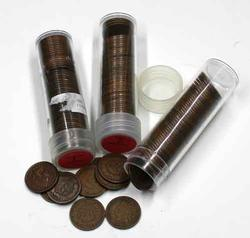 150 Assorted Indian Pennies In Tubes
