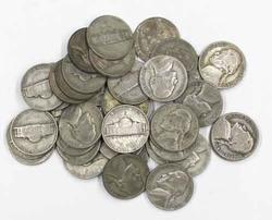 40 Silver WW11 War Nickels