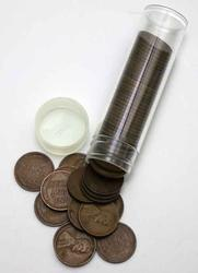 Circulated Roll Of 1915 D Lincoln Cents