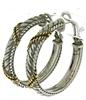 Judith Ripka Sterling Silver Hoop Earrings