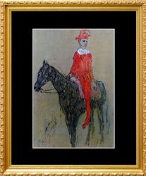 Pablo Picasso, Harlequin On Horseback