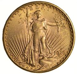 1915 $20.00 Saint-Gaudens Gold Double Eagle