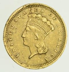 1857-C Indian Princess Head Gold Dollar - Circulated
