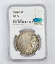 MS64 1884-O CAC Morgan Silver Dollar - Graded by NGC
