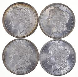Lot (4) 1879 Morgan Silver Dollars - Uncirculated