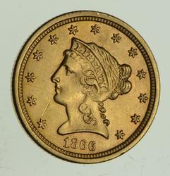 1866-S $2.50 Liberty Head Gold Quarter Eagle
