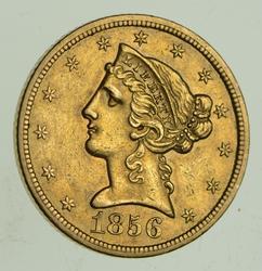 1856-S $5.00 Liberty Head Gold Half Eagle