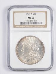 MS63 1901-S Morgan Silver Dollar - Graded NGC