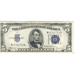 1934C $5 Silver Certificate Uncirculated
