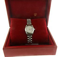 Rolex Datejust White Gold Fluted Bezel Jubilee Bracelet
