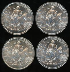 4 Great Prospector 1 Troy Oz pure .999 silver rounds