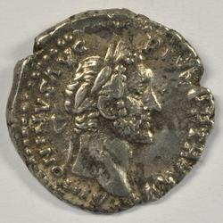 Antoninus Pius & wife Faustina Sr Roman Silver Denari