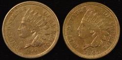 Needle-sharp 1860 & 1862 Indian Head Cents