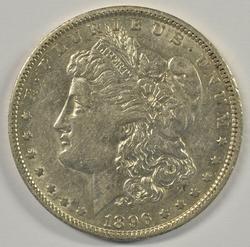 Nice AU 1896-O Morgan Silver Dollar. Key date
