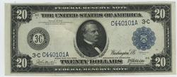 Handsome 1914 Series Large Size $20 Federal Res Note