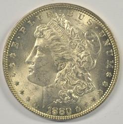 Choice BU 1880-P Morgan Silver Dollar. Full strike