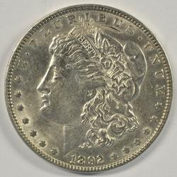 Well struck and lustrous 1892-P Morgan Silver Dollar