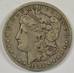 Handsome 1892-CC Morgan Silver Dollar. Nice circ