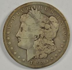 Rare key date 1893-CC Morgan Silver Dollar