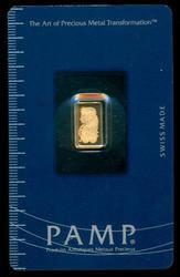 Pure .9999 Fine Gold 1 gram PAMP bar. Sealed