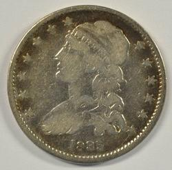 Early 1835 Capped Bust Quarter. Circ