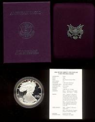 1986, 1996 & 2012 American Proof Silver Eagles Box/COAs