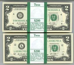 2 Gem Packs 100 Series 2013 $2 Bills. Sequential (D&L)