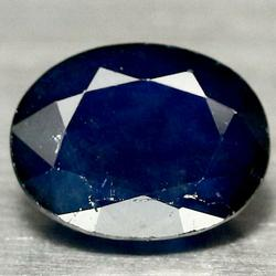 Picturesque 3.95ct mirror luster Sapphire cabochon