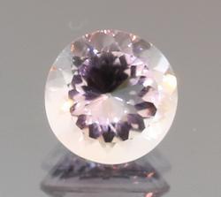 Glittering round cut 6.57ct pink Amethyst