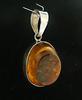 Vintage Sterling Silver Amber Pendant