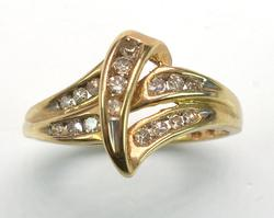 Fancy Diamond Ring In Gold