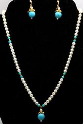 18KT Pearl & Turquoise Set